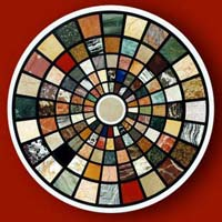 Mother of Pearl and Semi Precious Stone Table Top 20
