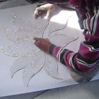 Mother of Pearl Inlay On Corian & Veneer 15
