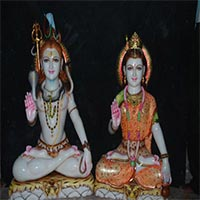 Shankar Parvati Statue 07