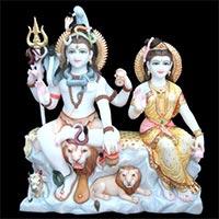 Shankar Parvati Statue 09