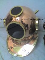 Black Glass 18 Inch Copper Diving Helmet