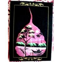 Hand Painted Peepal Leaf Greeting Card 02