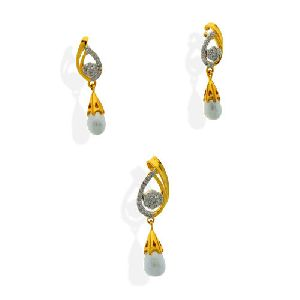 Diamond Pendant Set=>DPS09 Diamond Pendant Set