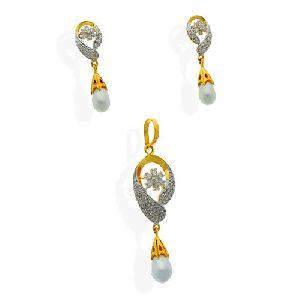Diamond Pendant Set=>DPS12 Diamond Pendant Set