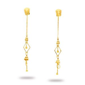 Gold Rajkot Earrings=>RFT04 Gold Rajkot Earring