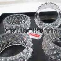 Brass Crystal Napkin Rings