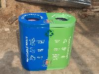 Waste Segregation Bin 40l Duo FIberplast