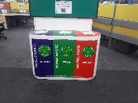 Waste Segregation Bin 40L TRIO Fiberplas