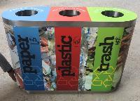 Waste Segregation Bin 60L Trio Steel