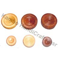 Wooden Checker Pieces
