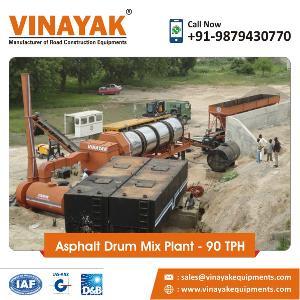 90 TPH Asphalt Drum Mix Plant
