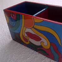 Hand Painted Pen Stand 05
