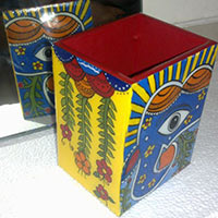 Hand Painted Pen Stand 08