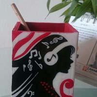 Hand Painted Pen Stand 10