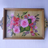 Hand Painted Wooden Tray 02