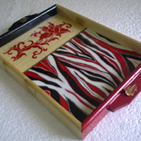 Hand Painted Wooden Tray 04