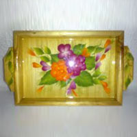 Hand Painted Wooden Tray 05