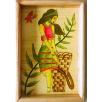 Hand Painted Wooden Tray 06