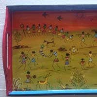 Hand Painted Wooden Tray 08
