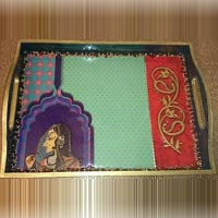 Hand Painted Wooden Trays 22