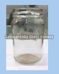 200 gm Glass Round Lug Jars