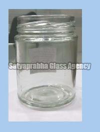 63 mm Glass Round Lug Jars