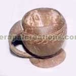 Coconut Shell Mugs with Handle