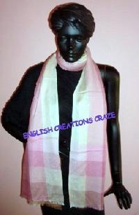 Cashmere Silk Cotton Woven Scarves (EC-2330)