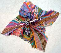 Digital Printed Multi Color Scarves -EC-6227-A
