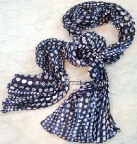 Polyester Dot Printed Scarves (EC-4357)