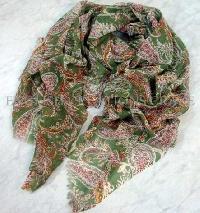 Silk Wool Printed scarves - EC-4819-A