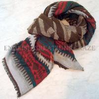 Wool Acrylic Cotton Jacquard Scarves -EC-6053