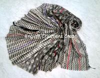 Wool Cotton Jacquard Scarves (EC-6439 B)