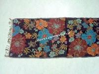 Wool Jacquard Floral Design Stoles (EC-2948-1)