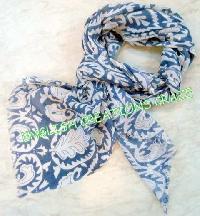 Wool Silk Woven Scarves (EC-3444)