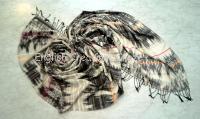 Wool  Silk Woven Scarves  (EC-6434 A)