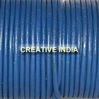 Blue Plain Round Leather Cord