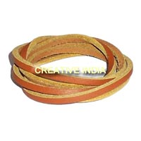 Flat Leather Cord (4X3mm)