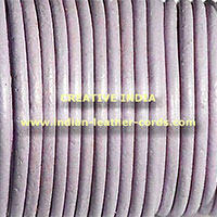 Grey Round Leather Cord