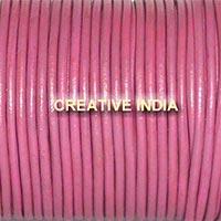Light Purple Plain Round Leather Cord