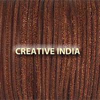 Mahroon Plain Round Leather Cord
