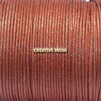 Metallic Color Wax Cotton Cord (510 Brown Golden)