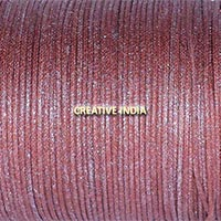 Metallic Color Wax Cotton Cord (510 Tan Brown Silver)