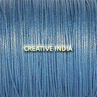 Metallic Color Wax Cotton Cord (527 Royal Silver)