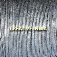 Metallic Color Wax Cotton Cord (539 Cotton Metallic Grey)