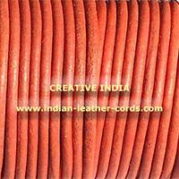 Orange Round Leather Cord