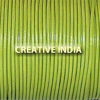 Parrot Green Plain Round Leather Cord