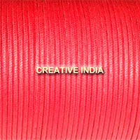 Regular Colour Wax Cotton Cord (114 Red)