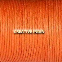 Regular Colour Wax Cotton Cord (Orange)