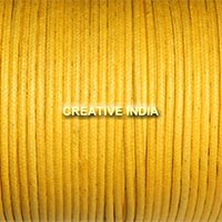 Regular Colour Wax Cotton Cord (Yellow)